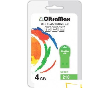 USB Flash Oltramax 210 4GB (зеленый) [OM-4GB-210-Green]