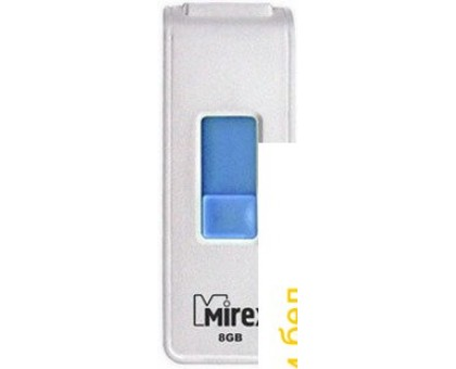 USB Flash Mirex SHOT WHITE 8GB (13600-FMUWST08)